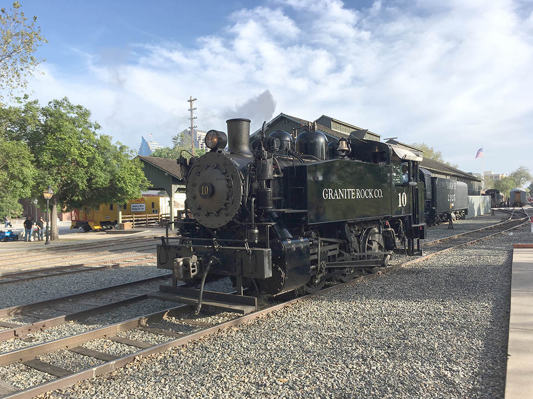 Inside the California State Railroad Museum