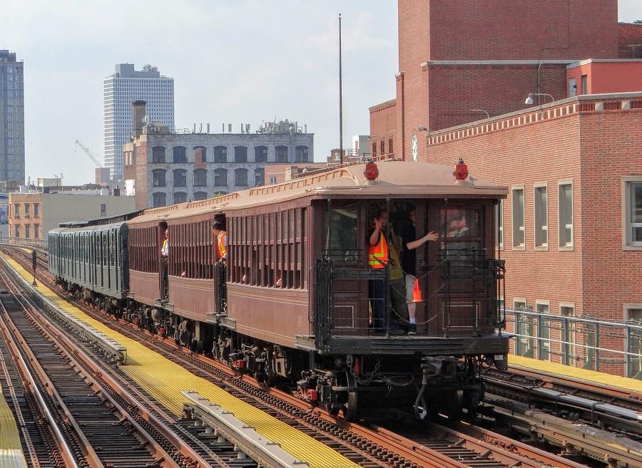 Vintage NYC subway car excursion